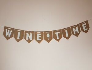 WINE-TIME-Bunting-Party-Banner-Adult-Birthday-Decoration-Banner-Adult-Humour