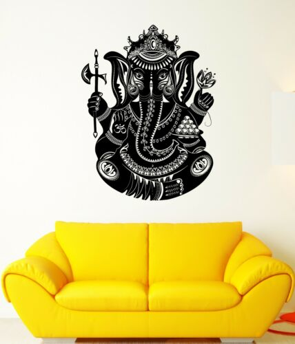 ed129 Wall Decal India Elephant Ganesha God Trunk Wealth Art Vinyl Stickers