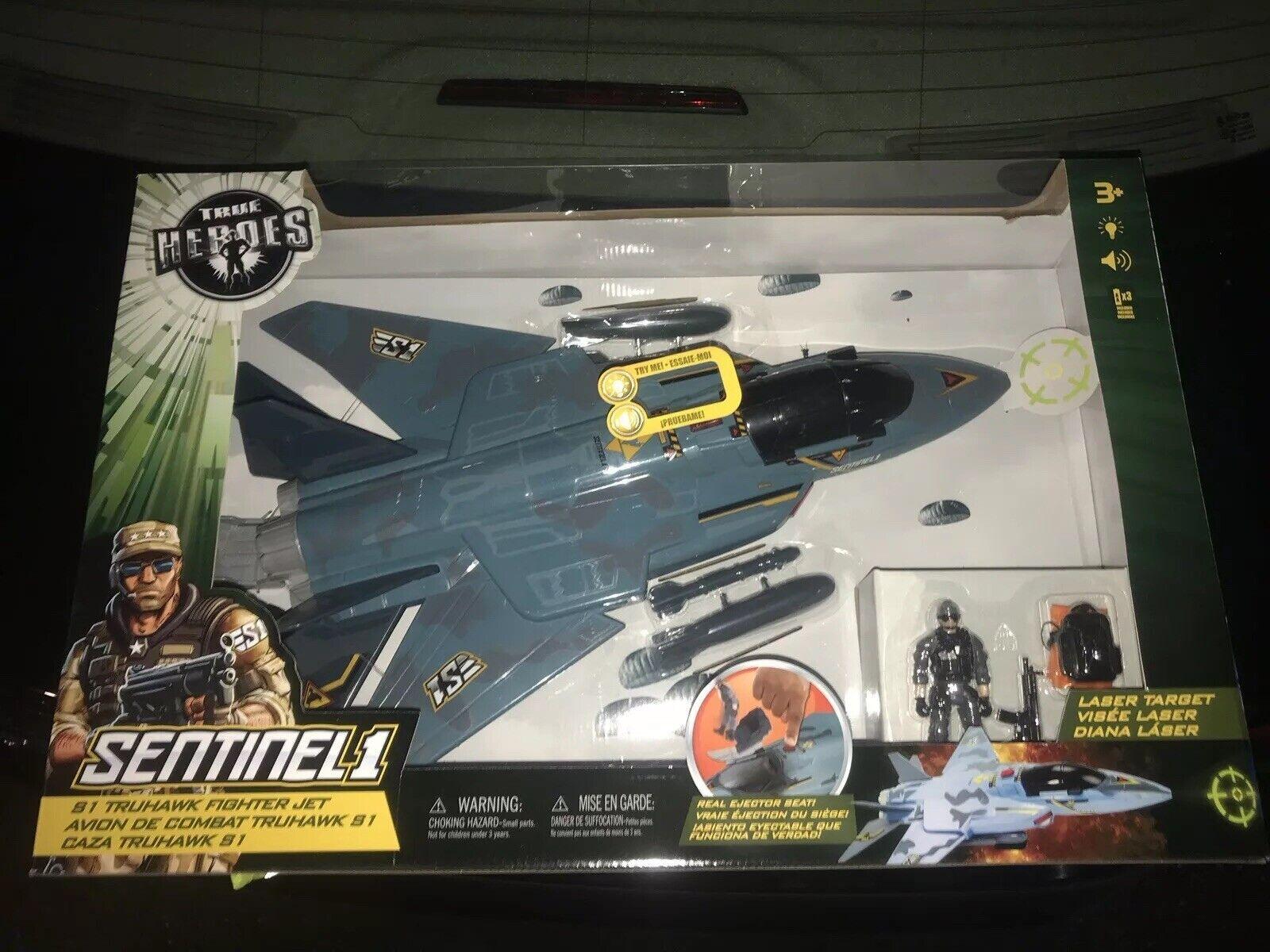 True Heroes S1 GI Joe truhawk Fighter Jet Set Con Luces Y Sonidos TRU Exclusivo
