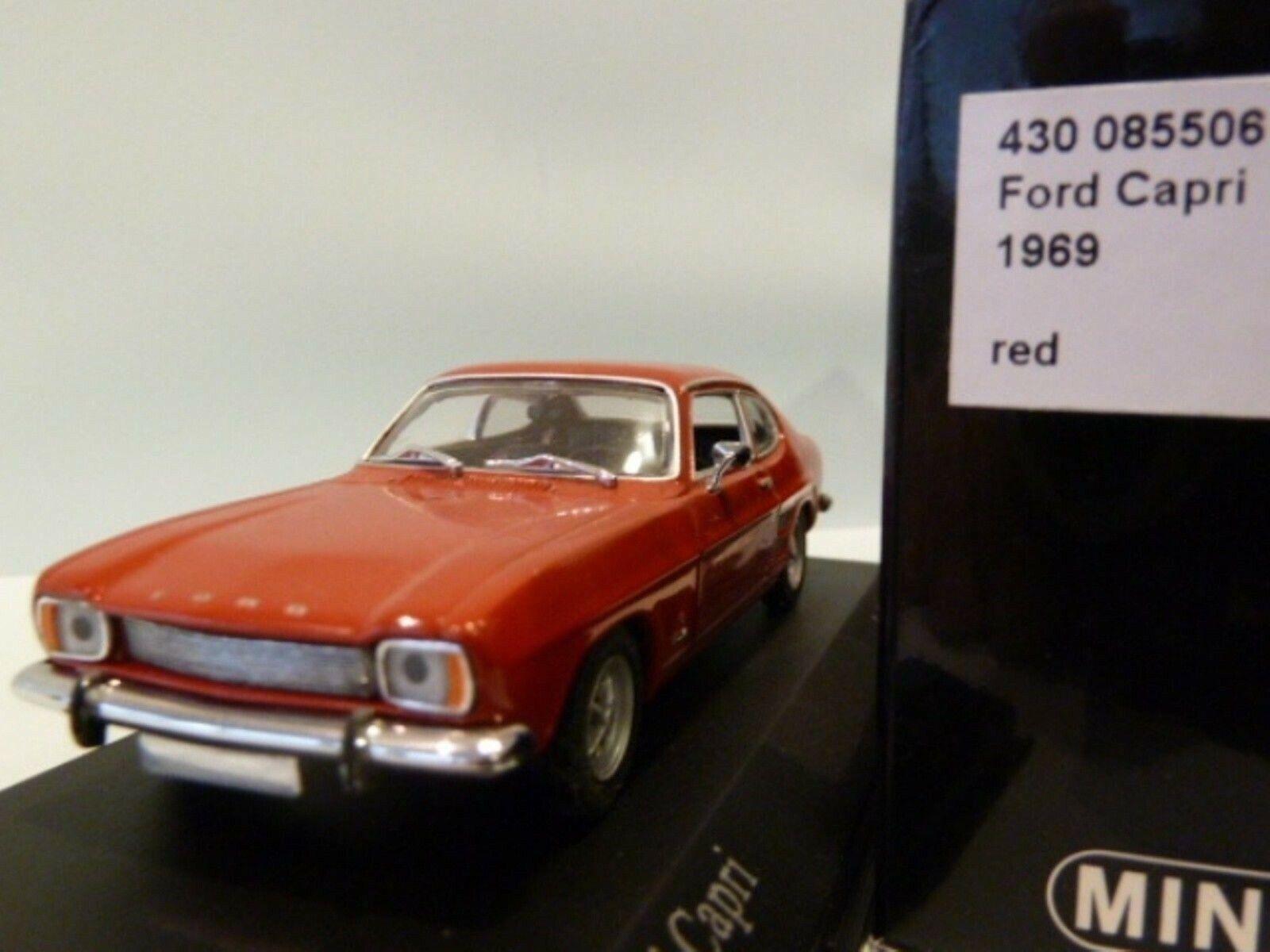 WOW EXTREMELY RARE Ford Capri MkI 1700 GT 1969 Red II 1 43 Minichamps-MkII MkIII