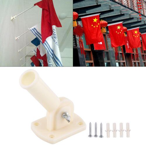 30mm Dia Alterable Plastic Wall Erecting Flag Pole Rack Flagpole Bracket Base