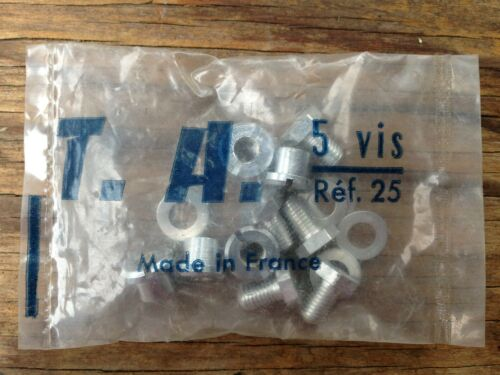 TA 5 VIS Chainring Bolts Ref 25 NIP Cyclotourist Crank set NOS Specialites T.A