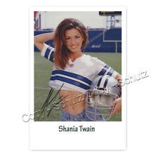 Shania Twain - Composer, Singer - Autogrammfotokarte laminiert