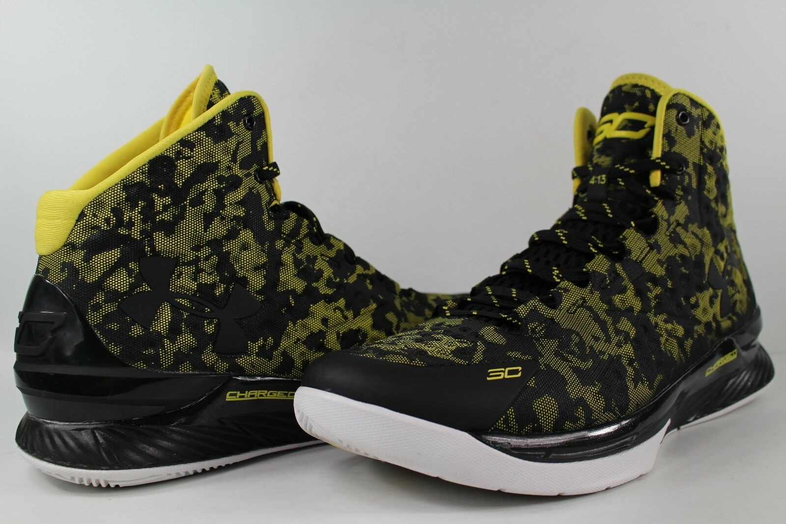 timeless design 8e148 8834e Under Armour Curry 1 Taxi Away Black White Size Size Size 12 1258723-001  5929f8