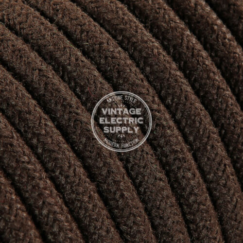 Braided Yarn Fabric Wire Brown Round Raw Yarn Cloth Covered Electrical Wire