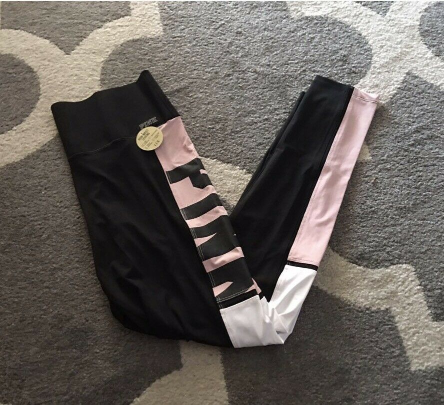 New Victorias Secret PINK BONDED YOGA LEGGING Large - HIGH WAIST Baby Pink  -NWT