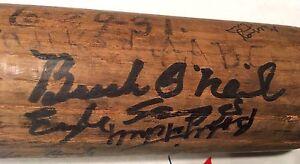 1931-Negro-League-Player-Signed-Baseball-Bat-Buck-O-039-Neill-Monte-Irvin-48-More