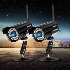 2X Wifi Wireless Bullet IP Camera Outdoor CCTV Home Security P2P IR Network Cam