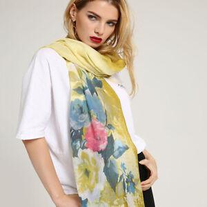 Reposición mendigo un millón  Mujeres Flor de impresión Bufanda Larga Envolvente Dama Chal Bufandas  Estola uno grande | eBay
