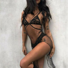 4fca1e49d9 item 4 Women Fishnet Mesh Acrylic Sequin Cover Up Dresses Beach Bikini  Metal Body Chain -Women Fishnet Mesh Acrylic Sequin Cover Up Dresses Beach  Bikini ...