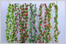 7 feet String Fake Artificial Flowers Vine Ivy Leaf Garland Floral Home Decor