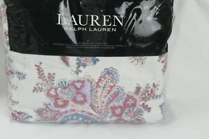 Ralph Lauren Juliet Paisley Full Queen Duvet Cover Shams Set Cotton Berry 300 Ebay