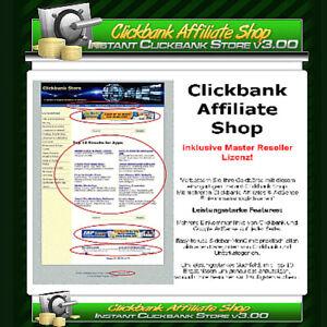 Clickbank Affiliate Shop (Instant Store v3.0) Deutsche Anleitung-Master Reseller