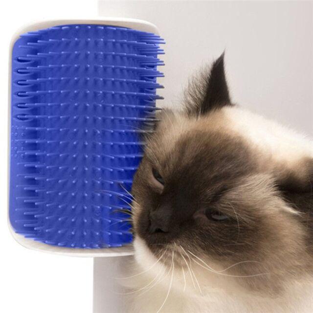 Pet Cat Self Groomer Brush Wall Corner Grooming Massager Comb Catnip Toy GA