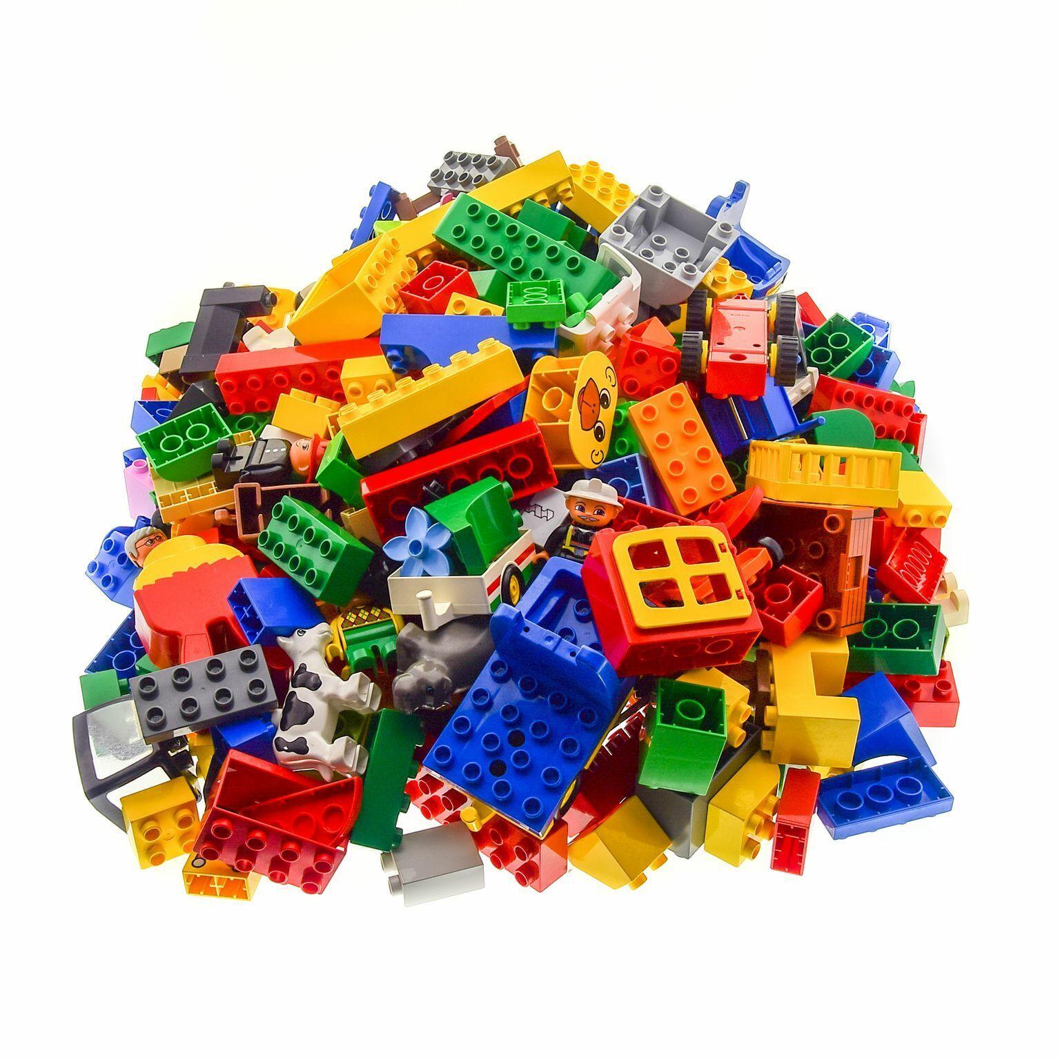4 kg LEGO Duplo Basic spécial pierres kiloware par hasard mélangé par exemple voiture personnages