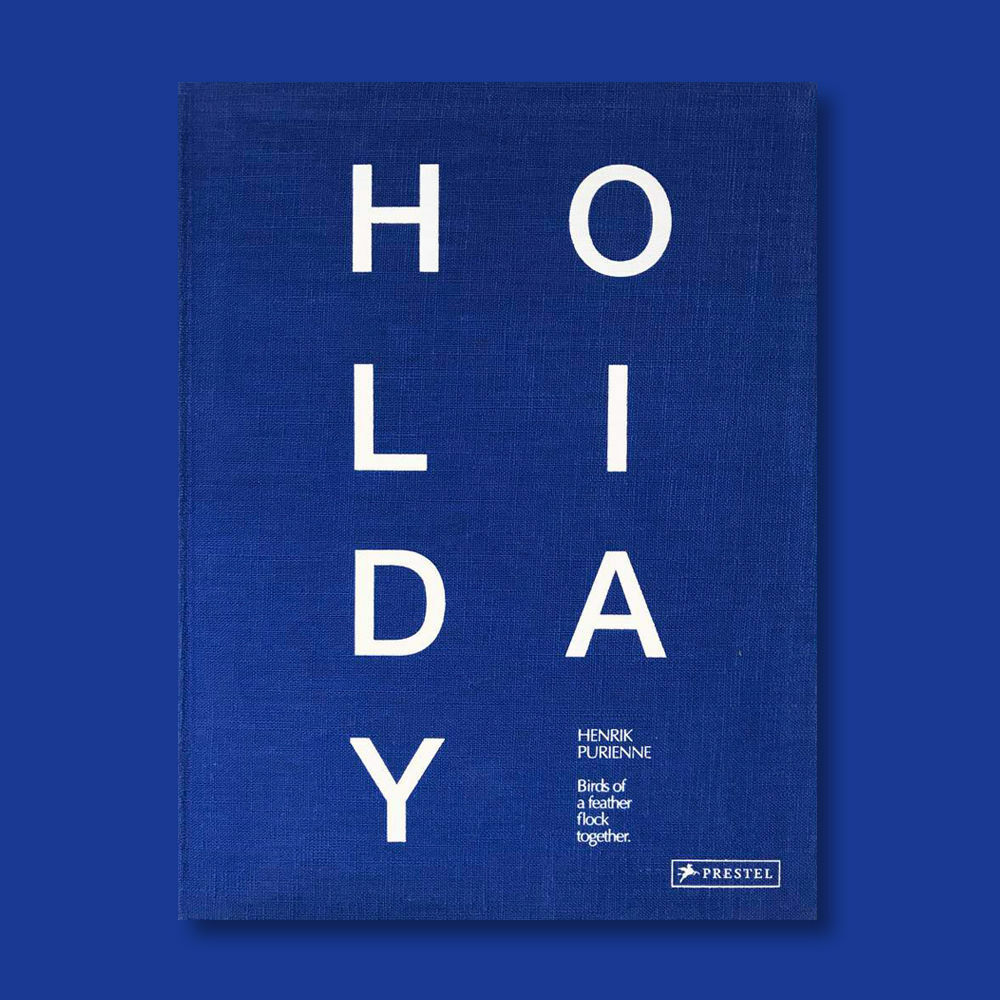 HENRIK PURIENNE HOLIDAY BLEU LIMITED EDITION, mirage magazine, Lui, blu prestel