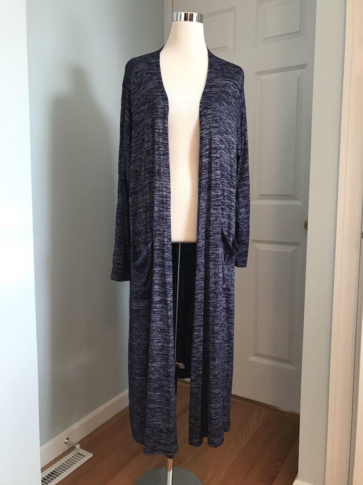 LuLaRoe Sarah Heathered bluee Long Cardigan Duster Size Size Size Large 0bc8ee