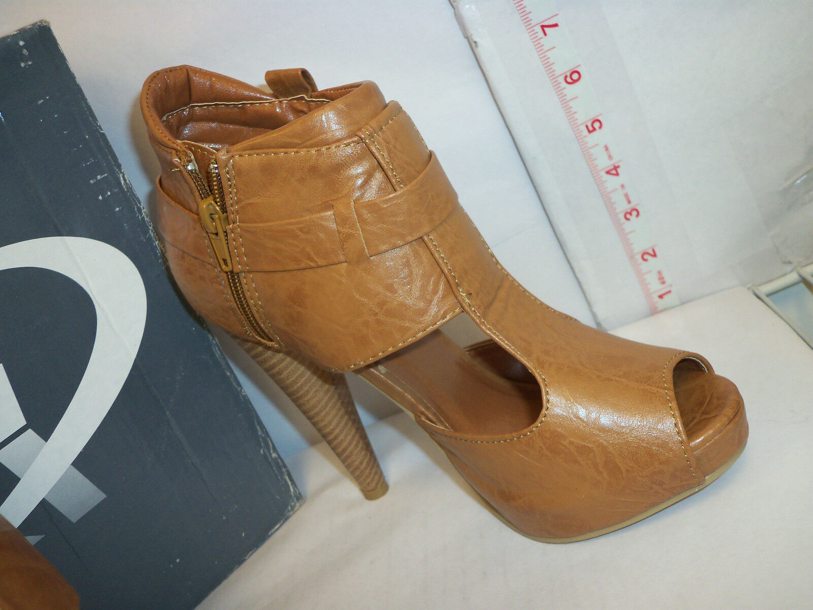 Yoki New damen damen damen Beyonce Rust 6.5 Open Toe Heels schuhe 9de8be
