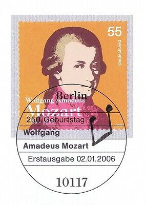 1a 2512 Mit Sauberem Berliner Ersttags-sonderstempel PüNktlich Brd 2006: Mozart Nr 1710