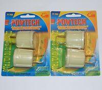 4 Pack 110v Outlet Plug To Standard Light Bulb Adaptor Converter