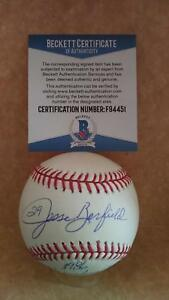 JESSE-BARFIELD-1986-ML-HOME-RUN-CHAMPION-SIGNED-M-L-BASEBALL-BECKETT-F94451