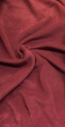Anti-Pil Plain cuir d/'agneau chaleureux tissu polaire qualité supérieure 285 GSM.11 Couleurs