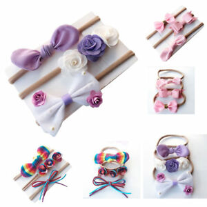 3pcs-set-Girls-Baby-Headband-Toddler-Infant-Flower-Hair-Bow-Band-Head-Piece-New