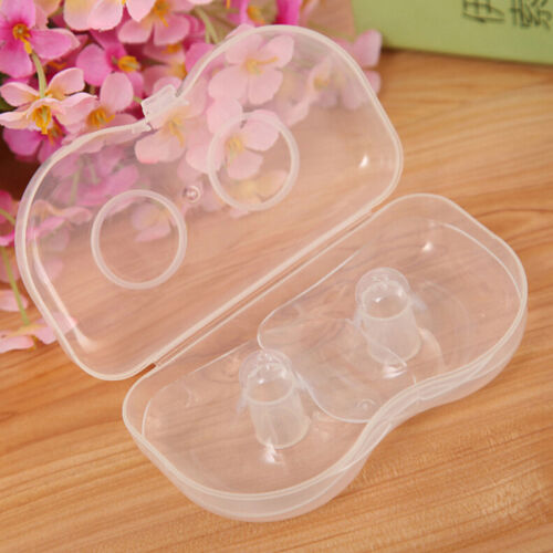 2 x Silicone Nipple Shields Protectors Shield Breast Feeding for Baby SW