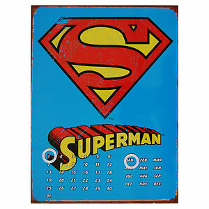 Superman-Calendar-CHEAP-BARGAIN-RETRO-COOL-calender-gift-present-for-boys-men