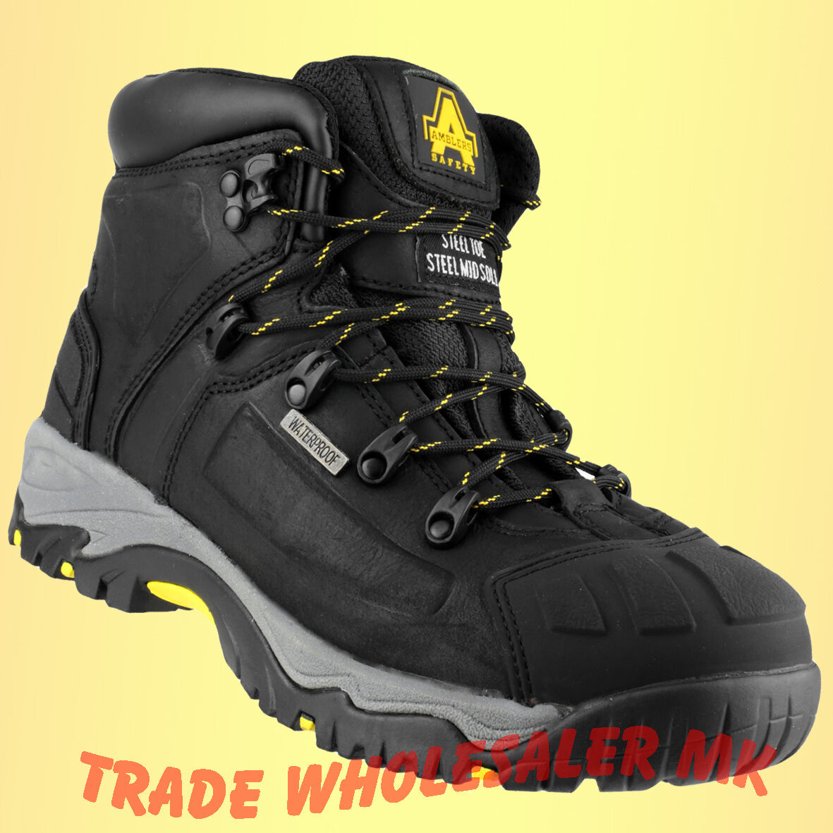 MENS AMBLERS WATERPROOF MED WAY SAFETY Stiefel UK GrößeS STEEL TOE WORK Stiefel