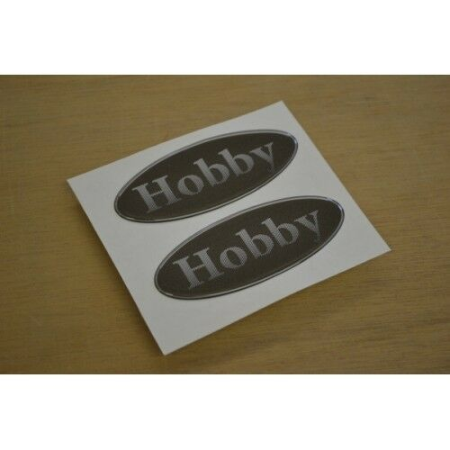 HOBBY - RESIN DOMED - Oval Caravan Ding Stickers Decals Graphics PAIR