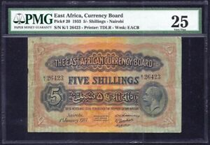 East-Africa-5-Shillings-1933-P-20-VF