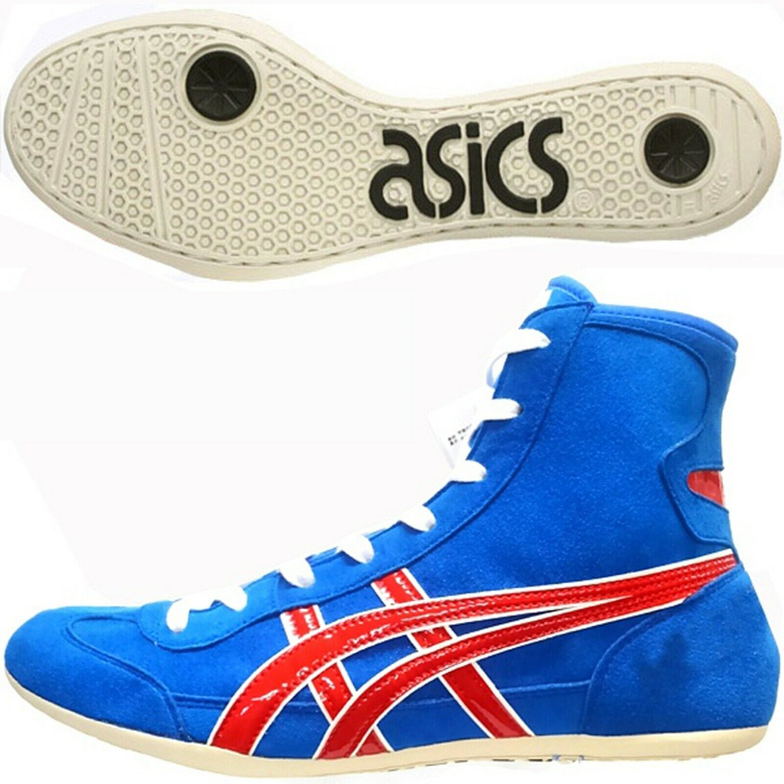 59c2a6dac4 ASICS JAPAN Wrestling shoes EX-EO TWR900 blueE RED original color ...