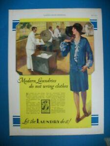 PUBLICITE-LAUNDRY-CLOTHES-WASHERS-ORIGINAL-VINTAGE-PRINT-AD-1920-039-s