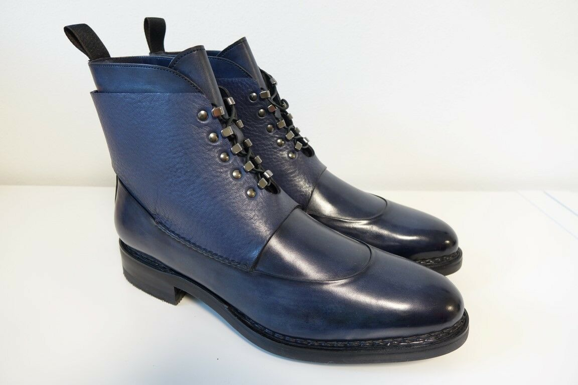Santoni SCARPE STIVALI stivali Business Scarpe da uomo tg. 8,5 (42,5) - NUOVO ORIGINALE | Di Modo Attraente  | Maschio/Ragazze Scarpa