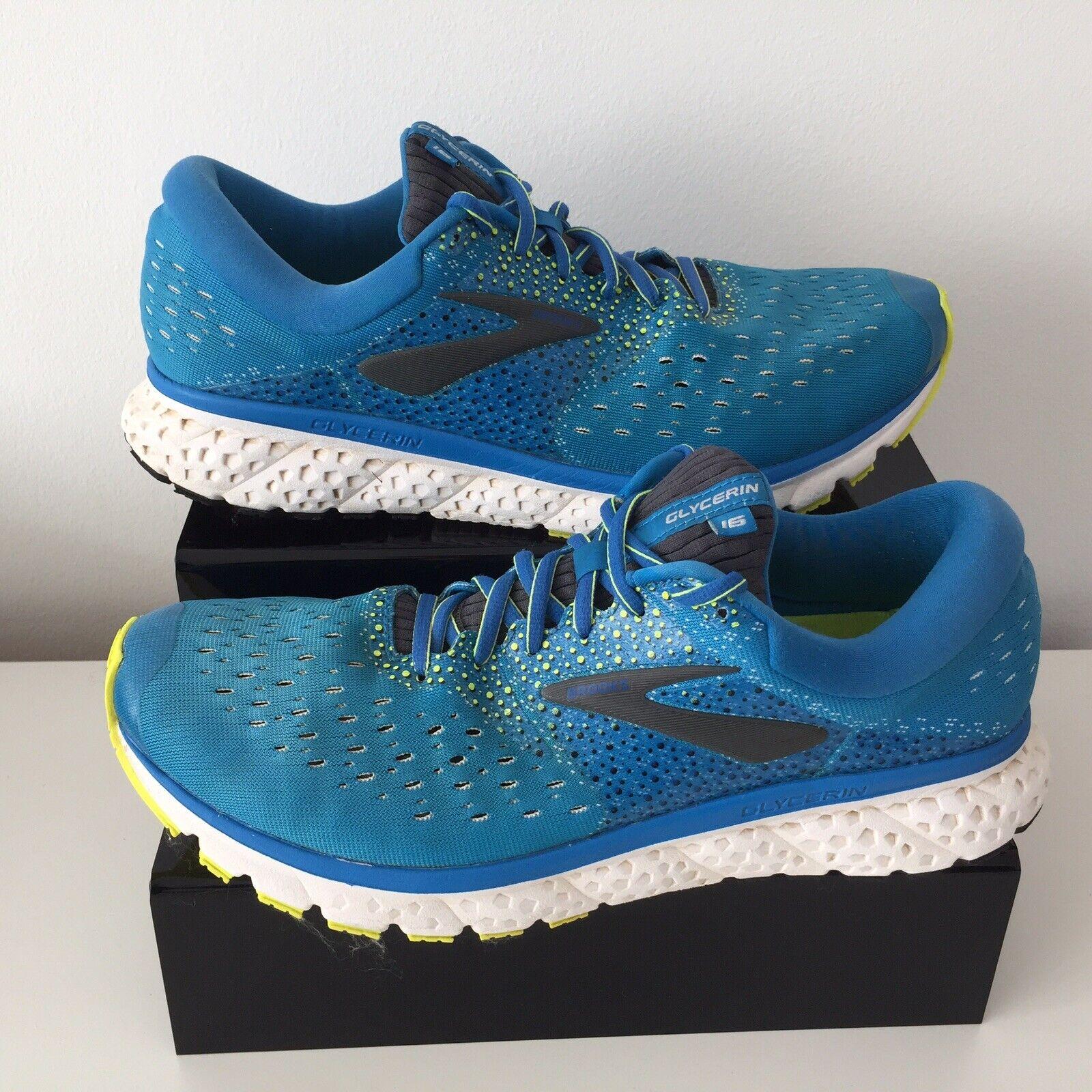 BROOKS GLYCERIN 16 Blau Running Trainers schuhe Men`s Größe UK 12 Medium EUR 47.5