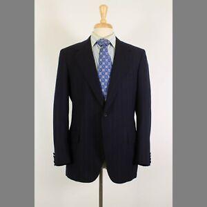 Oxxford 40R Navy Stripe 100% Wool 2-Button Sport Coat Blazer Jacket