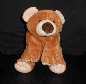 TY PLUFFIES 2002 SLUMBERS BABY BROWN TEDDY BEAR CUB STUFFED ANIMAL ... 16ba04be56b5