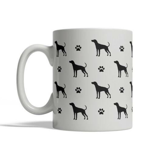 Plott Hound Dog Silhouettes Coffee Mug Tea Cup 11 oz ceramic silhouette