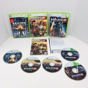 Mass Effect Trilogy Xbox 360 Games 1 2 & 3 Game Collection Bundle Lot