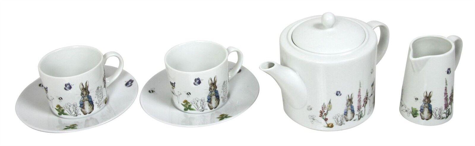 Beatrix Potter Peter Peter Peter Rabbit blau grau Porzellan Teetassen Untertassen       Öffnen Sie das Interesse und die Innovation Ihres Kindes, aber auch die Unschuld von Kindern, kindlich, glücklich  11a3a8