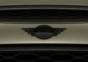 MINI-ORIGINAL-Badge-Logo-Capot-Front-Emblem-BLACK-F56-F57-COOPER-S-JCW
