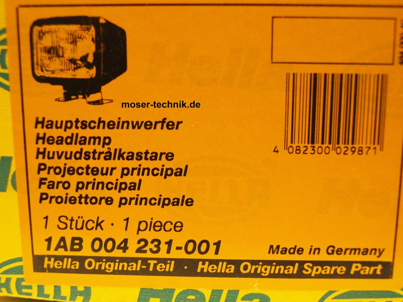 Scheinwerfer Hauptscheinwerfer NEU HELLA 1AB 004 231-001 H4 links//rechts Art