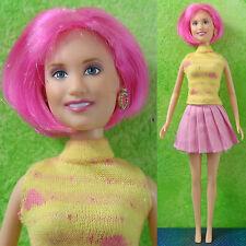 "Disney 11.5"" HANNAH MONTANA LOLA Doll  Miley Cyrus Pink Hair VERY RARE Celebrity"
