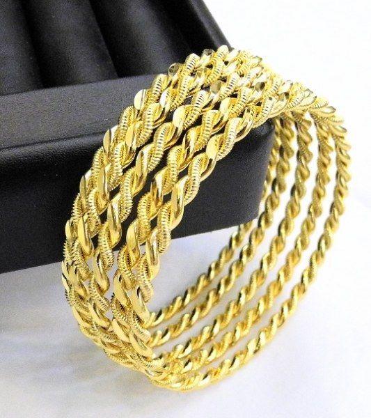 12 x Ikili Burma Bilezik 24 k gold plated gold GP 24 Ayar Altin Kaplama 0,5 cm