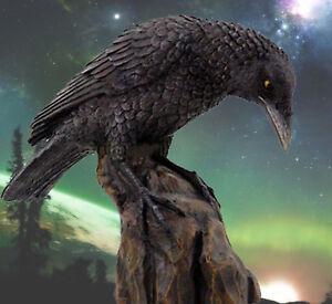 RAVEN-ODIN-039-s-Messenger-Valhalla-Native-Am-Spirit-Guide-Figure-Statue-8729