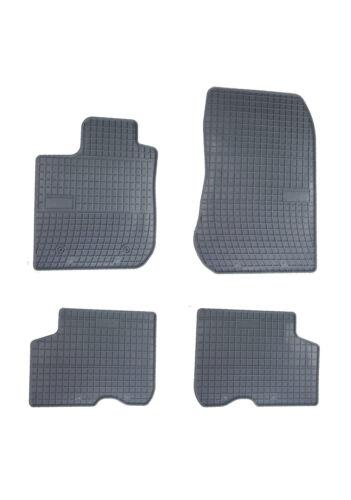 4tlg Tappetini in Gomma Tappetini compatibile per Dacia Logan II 2014+ Set di nero