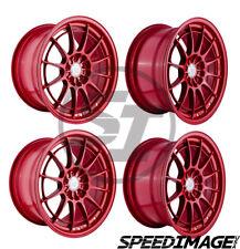 4x Enkei Nt03 18x95 40 Offset 5x100 Gloss Red 726 Racing Set Of 4 Wheels
