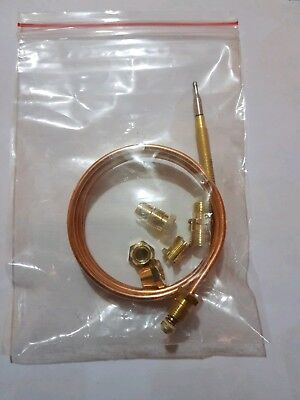 UNIVERSAL GAS THERMOCOUPLE 1200MM LONG WITH THREADED END ATHERM10