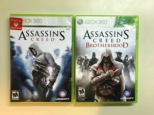 Xbox 360 Action Stealth Lot - Assassin's Creed & Brotherhood - 2 COMPLETE Games